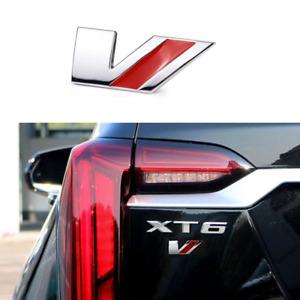 Cadillac V Series Rear Trunk Side Door Emblem Badge for ATSV CTSV STSV CT4 XT6