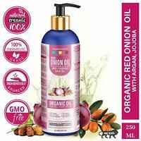 Red Onion Oil With Argan, Jojoba Hibiscus Curry Leaves Tea Tree Organic Hair Oil