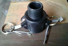 ".75""  B-75 Cam lock 75B Polypropylene Poly Male NPT x Female camlock M Adapter"