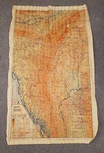 WW2 Silk Escape Map 44/A and 44/B Burma Siam French Indo China  1944 Militaria