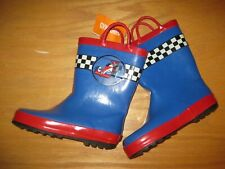 NWT Gymboree Everyday All star size 12 Blue Race Car Rain Boots