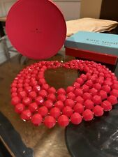 "KATE SPADE NEW YORK ""CUT TO THE CHASE"" MULTI-STRAND NECKLACE. BRIGHT PINK"