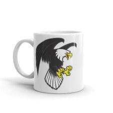 Angry Eagle Mug - Eagle's Mascot Football Sports Bird of Prey Birds Gift #4710