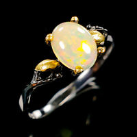 Unique Design Natural Opal 925 Sterling Silver Ring Size 8.75/R112744