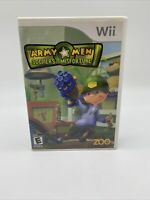 Army Men: Soldiers of Misfortune (Nintendo Wii, 2008) with Manual Tested Working