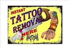 Studio de tatouage Blague Signe, reproduction suppression de tatouage nouveauté métal signe