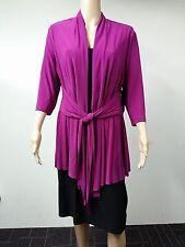 NEW - Jones New York - Size 16W - Three Quarter Black & Plum Velvet  Dress $134