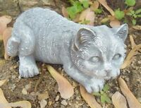 Latex cat mold with plastic backup plaster concrete casting mould