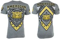 AMERICAN FIGHTER Mens Elongated T-Shirt CHESTERBROOK Tiger GREY Athletic $40