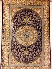 Wunderschöner Orientteppich Ghom Seide auf Seide 150 x 100 Signatur Top Neu