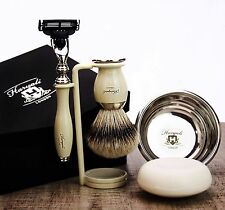Shaving & Grooming Set |Gillette Mach3 & SilverTip Badger Brush| Men's Kit Gift
