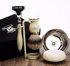 Shaving & Grooming Set |Gillette Mach3 & SilverTip Badger Brush| Men's Kit Gift