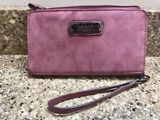 Nicole by Nicole Miller Purple woman's Clutch Wristlet Wallet