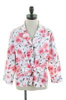 JONES NEW YORK Womens Shirt Blouse Size 18 XL Multi Floral Cotton  L109