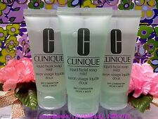 3 ** CLINIQUE Liquid Facial Soap Mild (Dry Comb) 1.oz/30ml  ♡FREE POST♡