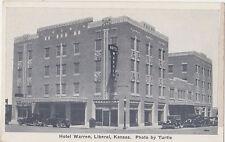 Liberal,Kansas,Hotel Warren,Seward County,c.1930s