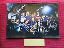 EVERTON LEGENDS 1984-85 EUROPEAN CUP WINNERS CUP 9 SIGNED 45cm x 30cm PHOTO -COA