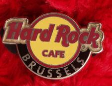 Hard Rock Cafe Pin BRUSSELS Classic LOGO  City hat lapel