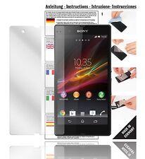 6x Displayschutzfolien für Sony Xperia Z Schutzfolie Klar Folie Displayfolie
