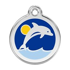 Red Dingo Dog Cat Pet ID Tag Charm FREE Personalized Engraving DOLPHIN