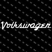 """Volkswagen Retro VW Vinyl 9"""" Decal illest fatlace racing stickers jdm lowlife"""