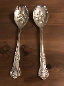 Vintage Viners salad Fork And Spoon Silver Plate Sheffield