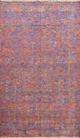 Abstract Modern Distressed Hand-knotted Oriental Area Rug Living Room Carpet 6x8