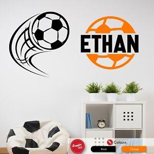 Football Wall Art Sticker Boys Bedroom Personalised Vinyl Soccer Sports Decal