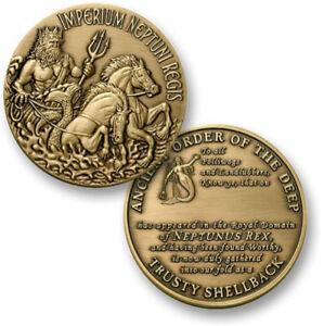 NEW U.S. Navy Trusty Shellback Challenge Coin.