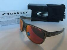 Oakley Sliver R Round POLARIZED Sunglasses Matte Grey Ink/Torch Iridium 9342-03
