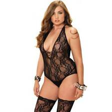 Leg Avenue 2PC floral Teddy Bodystocking negro