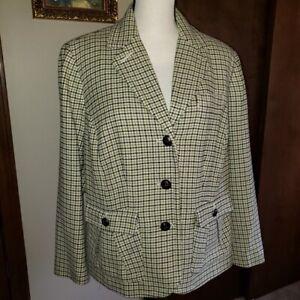 Talbots Woman Petites 16W Wool Blend Suit Jacket