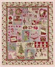 NOEL BLOCK OF THE MONTH QUILT PATTERN, Christmas Applique From The Vintage Spool