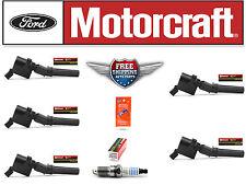 Set of 5 Motorcraft Ignition Coil DG508 FD503 + 5 Motorcraft Spark Plug SP479