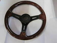FIAT 124 SPIDER, PININFARINA SPIDER,  WOOD STEERING WHEEL, NRG BRAND, BLACK