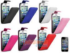 Funda carcasa cuero piel + 2 PROTECTORES PARA IPHONE 4 4S 4G CASE FLIP COVER