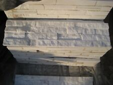 Stacked stone stack stone cladding white marble Perth