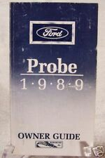 **LOOK** 1989 Ford Probe Owners Manual 89