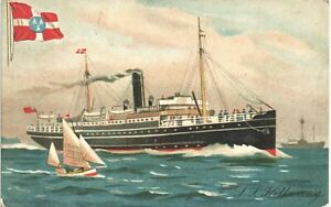 Advertising. City of Dublin Steam Packet Co Shipping Line SS Killarney by Walker