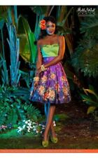 Pinup Girl Clothing Deadly Dames Purple Tiki Skirt NWT