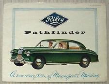 RILEY PATHFINDER Car Sales Brochure 1956 #H&E 5513