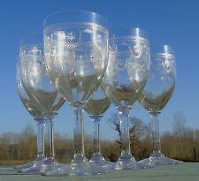 Saint Louis - Service de 6 verres en cristal gravé, modèle dans le goût de Manon