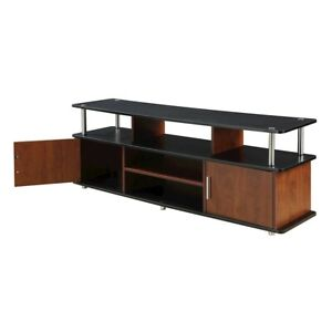 "Convenience Concepts Designs2Go 60"" Monterey TV Stand, Cherry/Black - 151440"