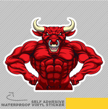 Tough Mean Strong Bull Vinyl Sticker Decal Window Car Van Bike 2896