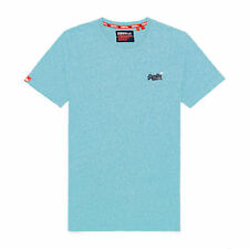 Superdry Ol Vintage Embroidery T-shirt Short Sleeve - Turquoise Grit All Sizes
