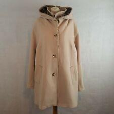 Plus Size Womens Winter Coat UK20 Luxurious Wool Cashmere Hooded Animal Print
