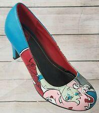 "TUK Pumps Size 6 Octa-Alien Girl Cartoon Bright Colors 2.75"" Heel"