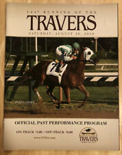 2010 Travers Stakes Program, Saratoga Race Course, Afleet Express, Point Given