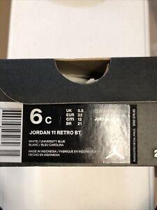 Nike Air Jordan 11 Retro Size 6C TD Playoff Bred White Blue Space Jam 378040-123
