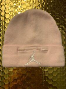Air Jordan Baby Newborn Hat 100% Cotton Beanie 0-6 Months Pink Logo Jumpman Nike